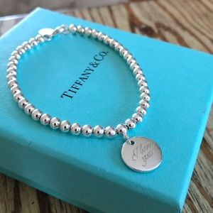 "Tiffany & Co. ""I love you"" bracelet"